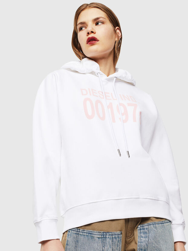 F-ANG-HOOD-J1, White - Sweatshirts