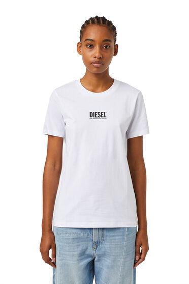 Camiseta con pequeño estampado de logotipo en relieve