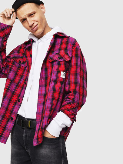 Diesel - S-GERRY-CHECK, Pink - Shirts - Image 4