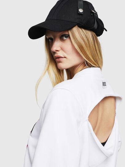 Diesel - F-LYANYDY-B, White - Sweatshirts - Image 4
