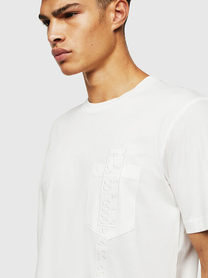 Diesel - T-JUST-POCKET-J1, White - T-Shirts - Image 3