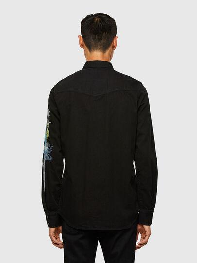 Diesel - D-EAST-P1-SP, Black - Denim Shirts - Image 2