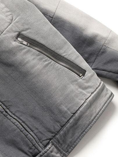 Diesel - GR02-J301, Grey/White - Denim Jackets - Image 4