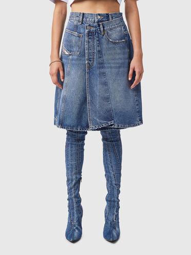 A-line skirt in fix denim