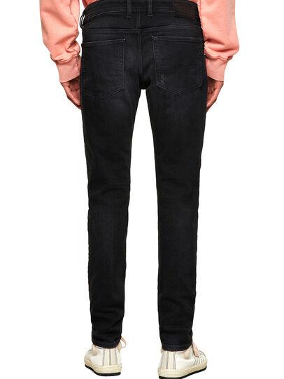 Diesel - Sleenker Skinny Jeans 0092B, Black/Dark Grey - Jeans - Image 2