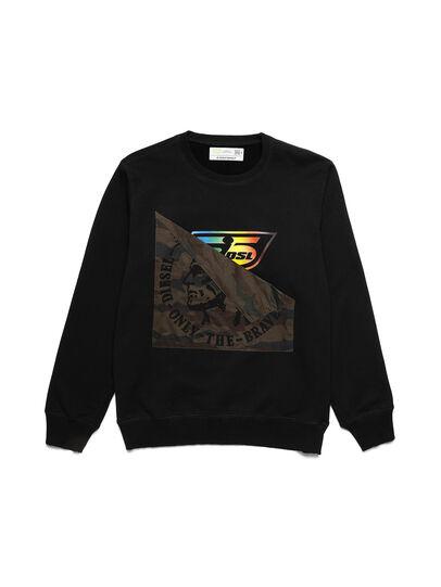 Diesel - D-HALF&HALF, Black - Sweatshirts - Image 1
