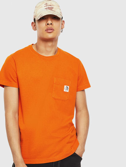 Diesel - T-WORKY-MOHI-S1, Orange - T-Shirts - Image 1
