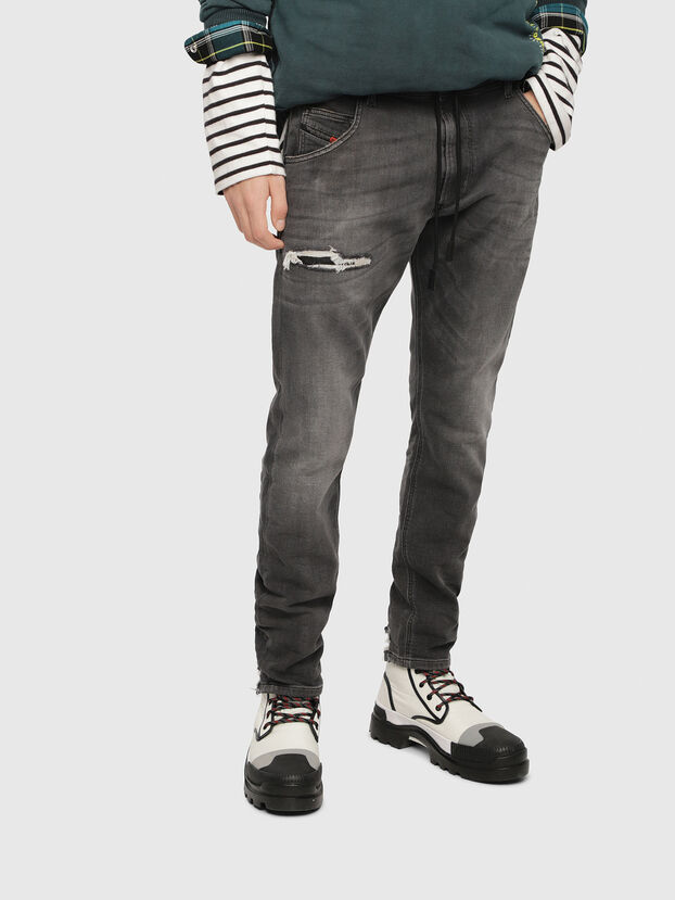 Krooley JoggJeans 069EM, Black/Dark Grey - Jeans