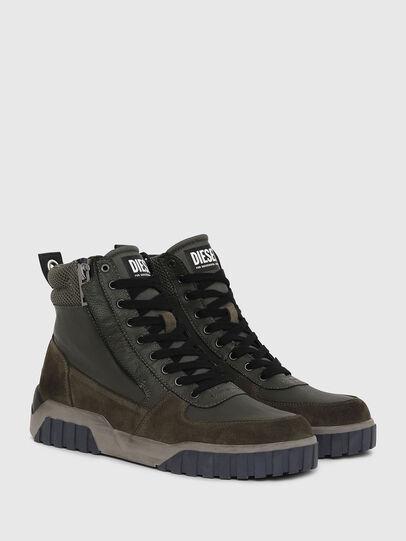 Diesel - S-RUA MID, Dark Green - Sneakers - Image 2