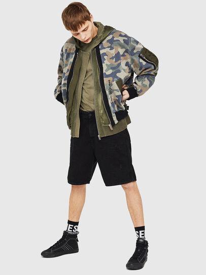 Diesel - D-AZLEY JOGGJEANS, Green Camouflage - Denim Jackets - Image 5