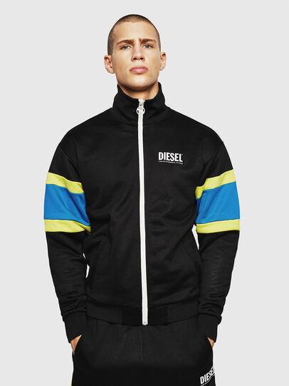 Diesel - S-AKON, Black - Sweatshirts - Image 1