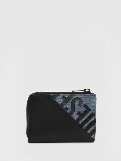Diesel - L-12 ZIP, Black/Blue - Small Wallets - Image 1