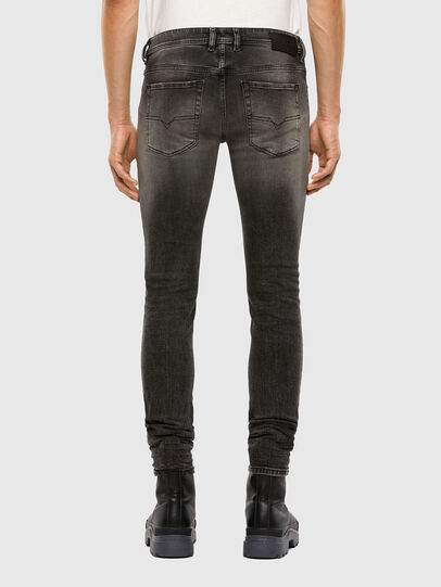 Diesel - Sleenker 009JF, Black/Dark Grey - Jeans - Image 2