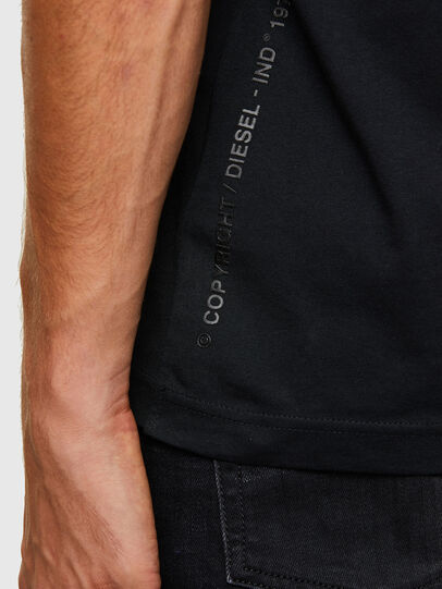 Diesel - T-DIUBBLE-N1, Black - T-Shirts - Image 3