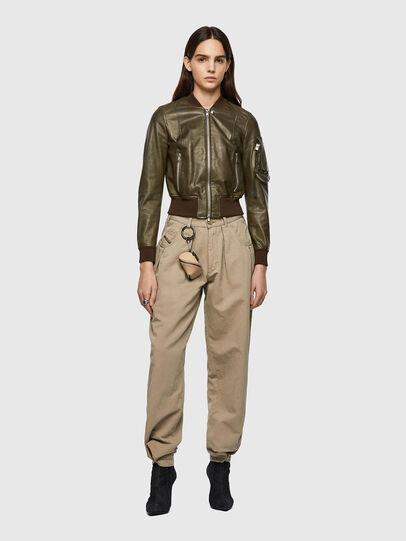 Diesel - L-ELIA, Olive Green - Leather jackets - Image 5