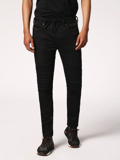 Diesel - Bakari JoggJeans 0678E, Black/Dark Grey - Jeans - Image 1