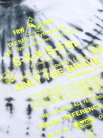 Diesel - TJUSTSLITSX86 OVER, Black/White - T-shirts and Tops - Image 3