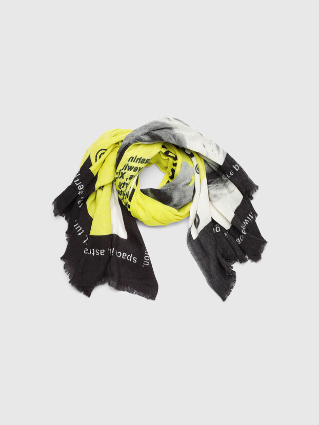 SRIGHT, White/Yellow - Scarves