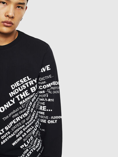Diesel - S-GIRK-S1, Black - Sweatshirts - Image 5