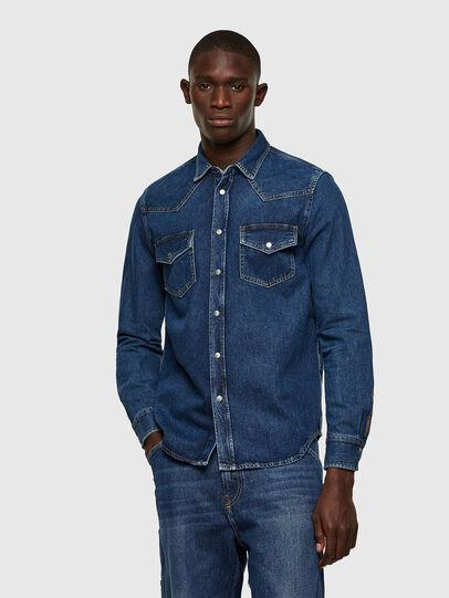 Diesel - D-EAST-P1, Azul - Camisas de Denim - Image 1