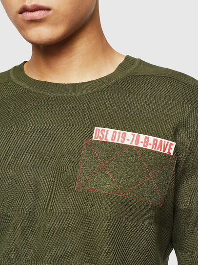 Diesel - K-STLE, Military Green - Sweaters - Image 3