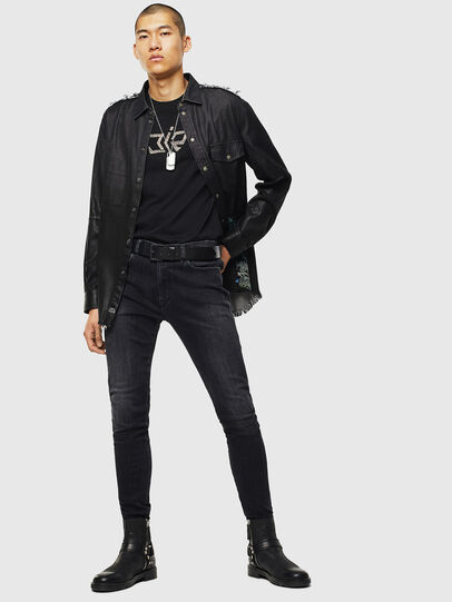 Diesel - D-Amny 0096P, Black/Dark Grey - Jeans - Image 5