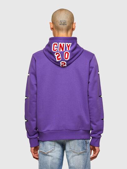 Diesel - CL-S-GIRK-HOOD-O1, Violet - Sweatshirts - Image 3