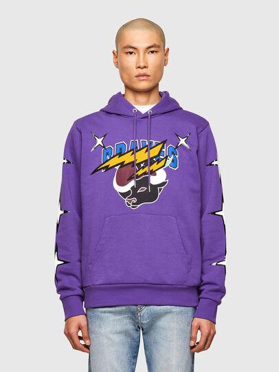 Diesel - CL-S-GIRK-HOOD-O1, Violet - Sweatshirts - Image 1