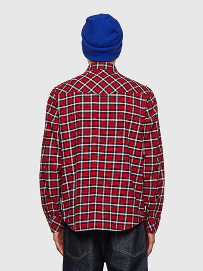 Diesel - S-EAST-LONG-CHK-B, Red/Black - Shirts - Image 2