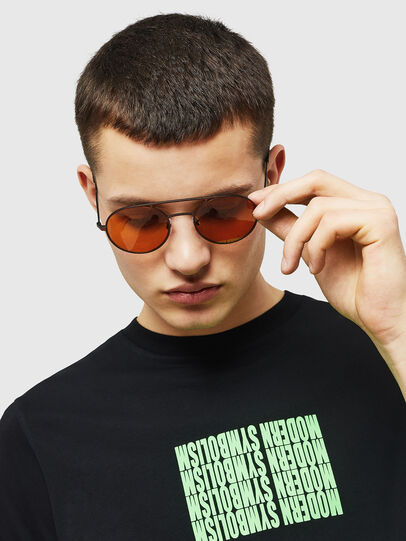 Diesel - DL0301, Orange/Black - Sunglasses - Image 5