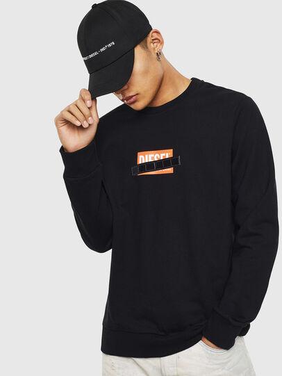 Diesel - S-GIRK-S4, Black - Sweatshirts - Image 1