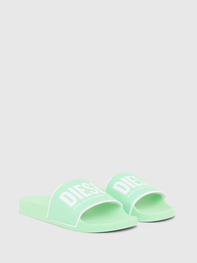 Diesel - SA-VALLA W, Green Fluo - Slippers - Image 2