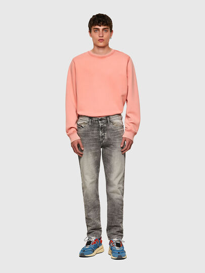 Diesel - D-Fining Tapered Jeans 069SV, Light Grey - Jeans - Image 5