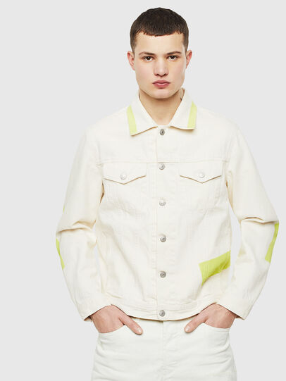 Diesel - NHILL-SP, White - Denim Jackets - Image 1