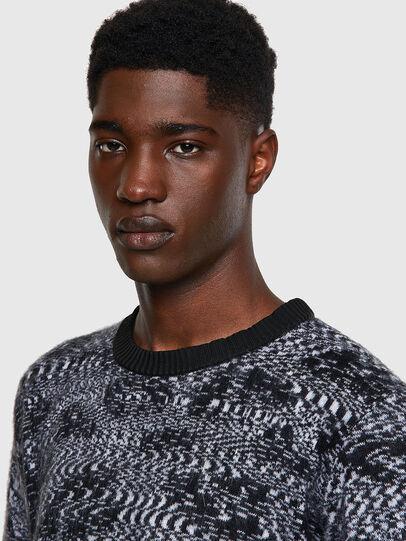 Diesel - K-AZOTIC, Black/Grey - Sweaters - Image 4