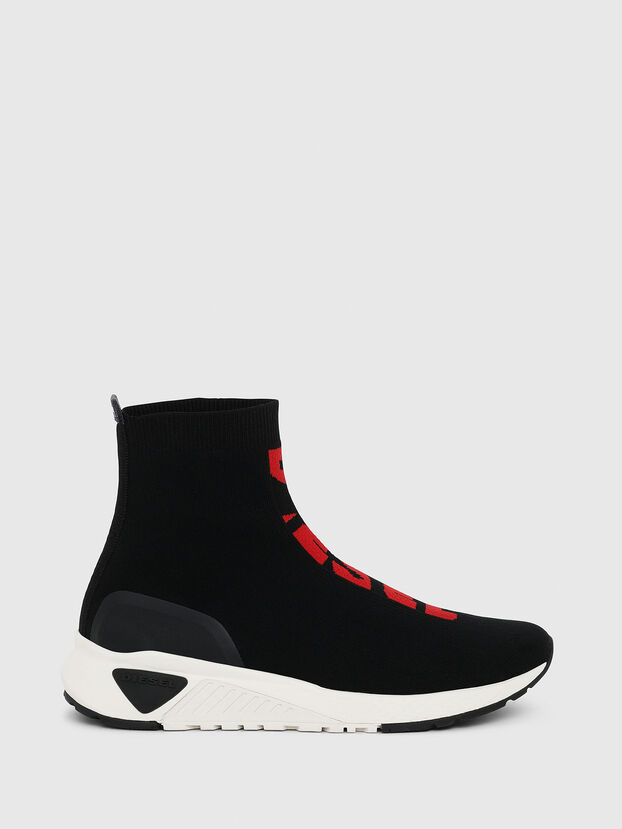 S-KB MID ATHL SOCK, Black/Red - Sneakers