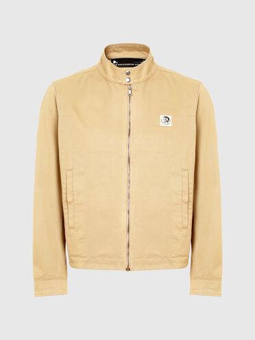 Garment-dyed biker jacket