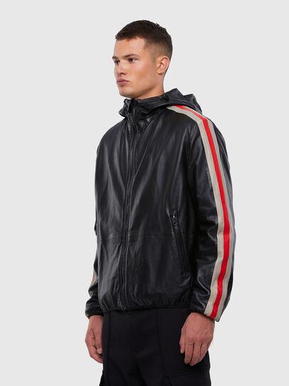 Diesel - L-MATHIAS, Black - Leather jackets - Image 5
