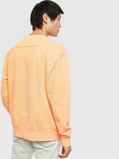 Diesel - S-BIAY-FLUO, Orange - Sweatshirts - Image 3