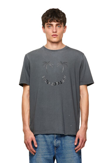 Faded T-shirt with palm print