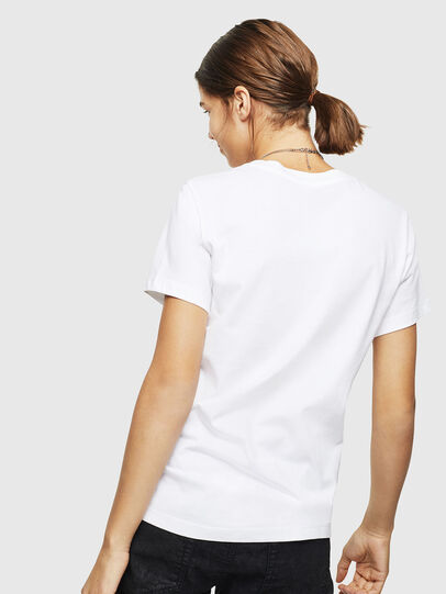 Diesel - T-SILY-ZC, White - T-Shirts - Image 2