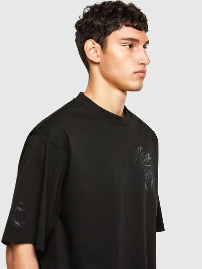 Diesel - T-DELPHI-SLITS-A1, Black - T-Shirts - Image 2