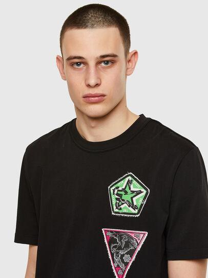 Diesel - T-JUBIND-SLITS-E1, Black - T-Shirts - Image 3