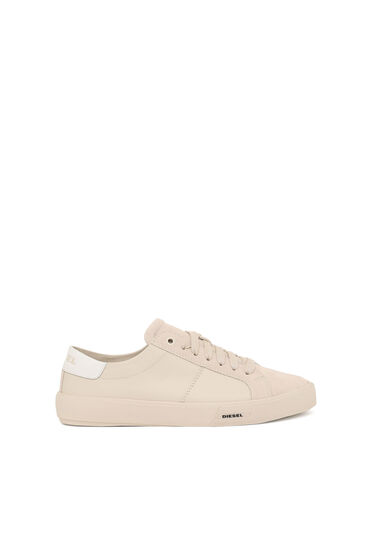Monochrome sneakers in suede and leather