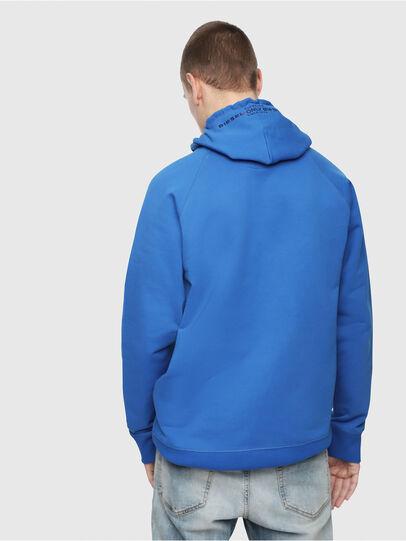 Diesel - S-GIM-HOOD-A, Brilliant Blue - Sweatshirts - Image 2