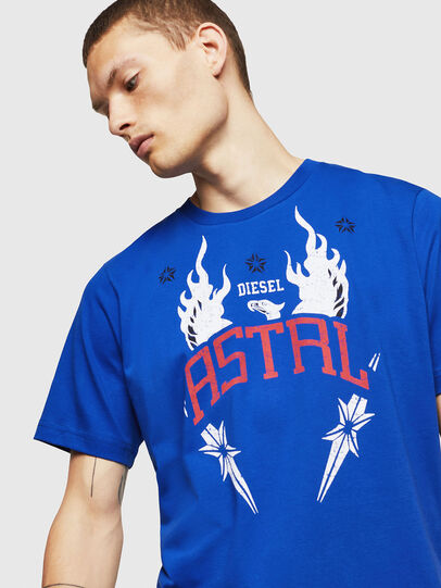 Diesel - T-JUST-A5, Brilliant Blue - T-Shirts - Image 3