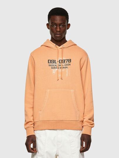 Diesel - S-GIRK-HOOD-B3, Orange - Sweatshirts - Image 1