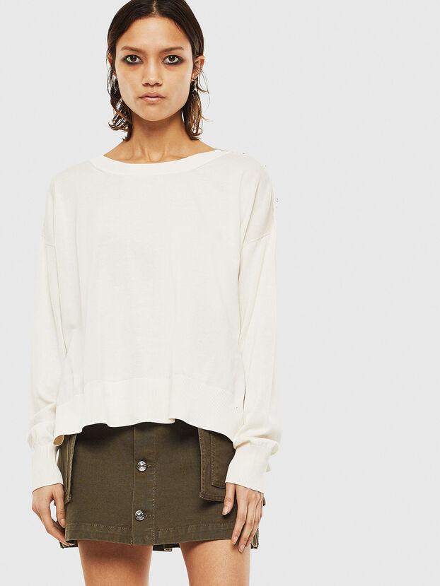 M-PERLA-A, White - Sweaters