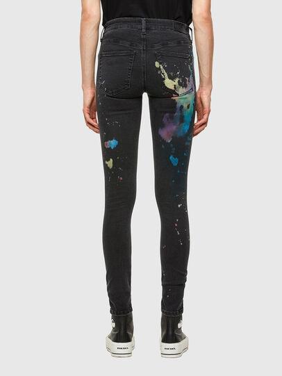 Diesel - Slandy Skinny Jeans 069UF, Black/Dark Grey - Jeans - Image 2