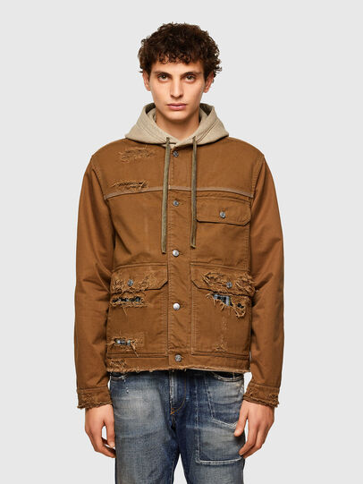 Diesel - J-BRUNO, Brown - Jackets - Image 1